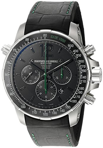 Raymond-Weil-Mens-Nabucco-Swiss-Automatic-Titanium-and-Rubber-Casual-Watch-ColorBlack-Model-7850-TIR-05217