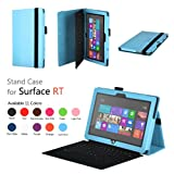Elsse (TM) Premium Folio Case with Stand for Microsoft Surface RT and Surface 2 (Does not fit Windows 8 Pro Version) Light Blue