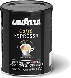 Lavazza Caffe Espresso Ground Coffee, 8-Ounce Cans by Lavazza