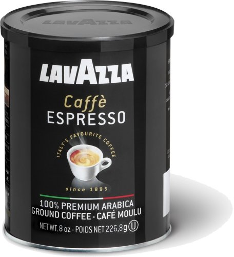 Lavazza Caffe Espresso Ground Coffee, 8-Ounce