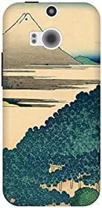 The Racoon Lean The Coast of Seven Leagues in Kamakura hard plastic printed back case / cover for HTC One (M8)