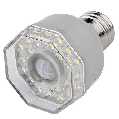 E27 Pir Infrared Motion Sensor 24 Led Light Bulb Lamp
