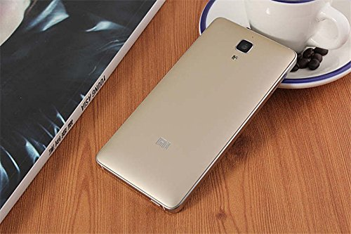 Luxury matte battery cover case with Mi Logo for Xiaomi Mi4 M4 with Suction Cup to remove the back cover - Gold