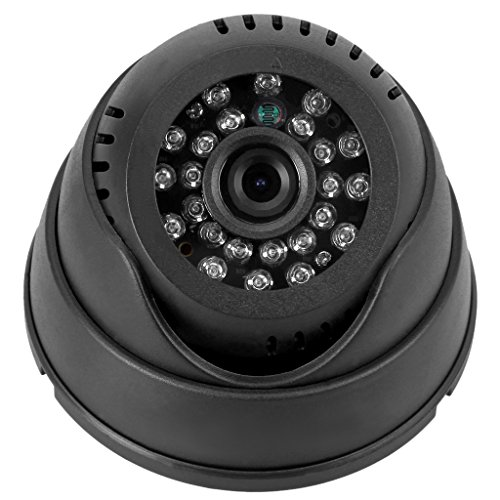 FLOUREON Dome Indoor CCTV Sicherheiskamera Überwachungskamera Videokamera Mikro SD Karte Nacht Vision DVR Recorder