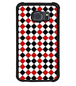Fuson Premium Lets Play Chess Metal Printed with Hard Plastic Back Case Cover for Samsung Galaxy S6