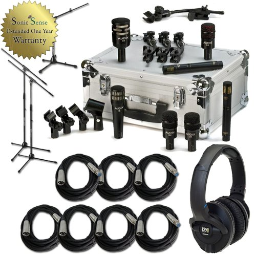 Audix DP7 Drum Microphone Kit Dynamic Mic Package