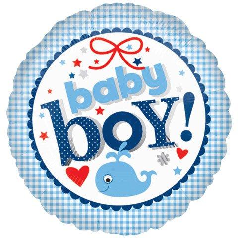 """18"""" Baby Boy Gingham Vlp"""