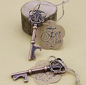 50pcs wedding favors skeleton key bottle opener with escort tag card for you stamp. Black Bedroom Furniture Sets. Home Design Ideas