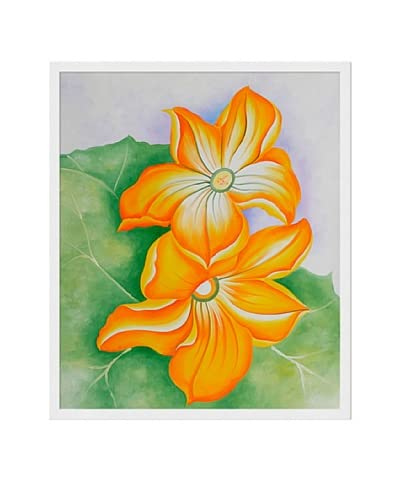 Georgia O'Keeffe Squash Blossoms Hand-Painted Reproduction