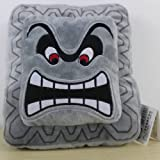 "Super Mario Bros Plush Soft Toys Cushion Pillow Thwomp Dossun 9"""