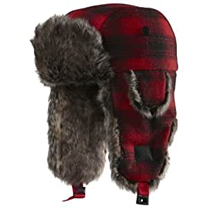 Chaos Kid's Muscle Plaid Trapper Hat, Red, One Size