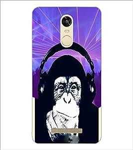 PrintDhaba Funny Chimpanzee D-3976 Back Case Cover for XIAOMI REDMI NOTE 3 (Multi-Coloured)