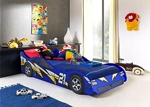 No 21 Blue Childrens Car Beds Boys Racing Blue Kids Car Bed Frame