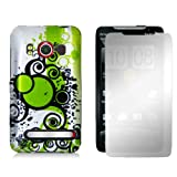 HTC EVO 4G - Android Bubbles Hard Plastic Skin Case Cover + Mirror Screen Protector