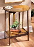 Collections Etc Wooden English Dropleaf Accent Table