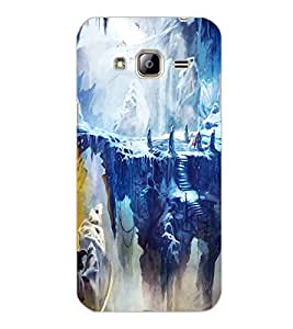 SAMSUNG GALAXY J3 2016 SNOW MOUNTAIN Back Cover by PRINTSWAG
