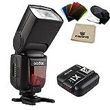 Godox Thinklite TTL HSS TT685S Camera Flash High Speed 1/8000s GN60 for Sony DSLR Cameras a77II a7RII a7R a58 a99 ILCE6000L, with X1T-S TTL Transmitter (TT685S+X1T-S)