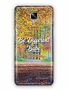 YuBingo Be Different Babe Designer Mobile Case Back Cover for OnePlus 3