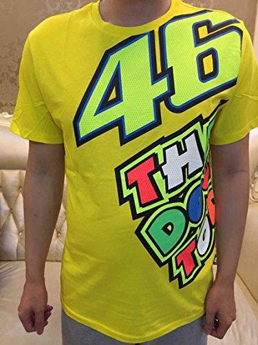 アラシ(Arashi) SIZE L  綿100%強吸汗通気 適合バイクGp  V.ロッシ 46 キャップ・バイク乗り半袖TシャツVR46 Valentino Rossi Doctor きいろ [並行輸入品]