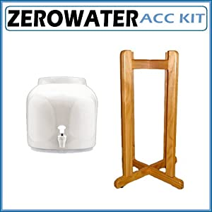 Zerowater 27 In Solid Oak Wood Floor Stand With Ceramic