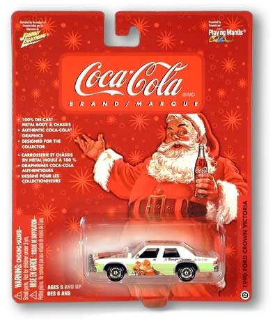 Buy Coke Coca-Cola Santa & Polar Bears Collectable Johnny Lightning Car 1990 Ford Crown Victoria #12