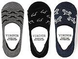 (ヴィブジョー) VIBGYOR 3足セット 滑り止め付きカバーソックス/靴下/ユニセックス/男女兼用[AC646566] フリーサイズ(25.0cm~27.0cm)