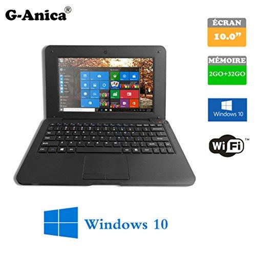 Tablette ordinateur portable Netbook Windows-10 HDMI écr 10 (Wifi-SD-MMC) RAM 2GBo ROM 32GBo (schwarz)