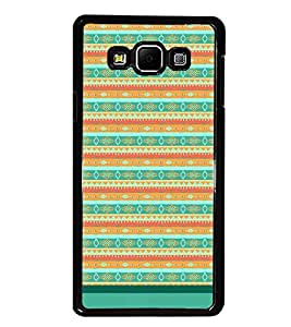PrintDhaba Tribal Pattern D-1733 Back Case Cover for SAMSUNG GALAXY A7 (Multi-Coloured)