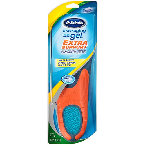 Dr. Scholl's Massaging Gel Extra Support Insoles (Men's Size 8 to 14) 1-Pair (Shoe Inserts Men Arch Support compare prices)