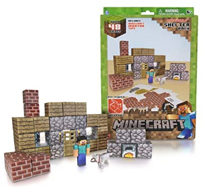 Overworld Shelter Pack Minecraft Papercraft Kit Series from Jazwares