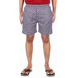 Aaduki Men's Cotton Shorts_Purple_XXL