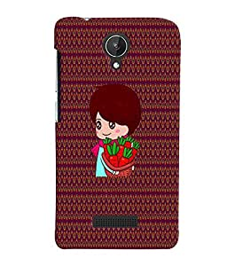 Fuson 3D Printed Girly Designer back case cover for Micromax Canvas Spark Q380 - D4328