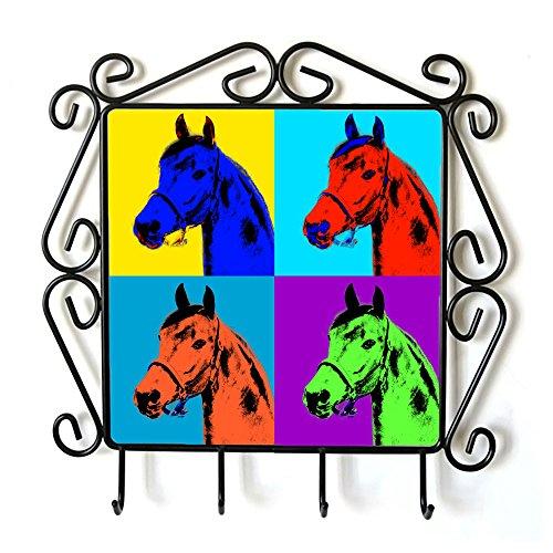 Morgan Cavallo, Appendiabiti con l'immagine di un cavallo, Andy Warhol Style