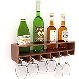 Home Sparkle Wood 4-Bottle Wine Rack (Brown)