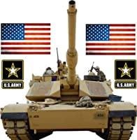 Military Tank and United States Flag Giant stickers - removable and repositionable Wall Decals Wall Art For Any Kids room. by Epic Designs