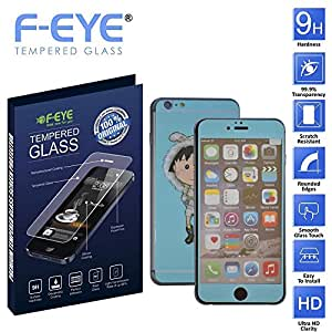 F-EYE® Colorful Tempered Glass iPhone 6s Plus, 6D Japanese Doll, Front+Back Screen Protector for iphone 6s plus, HD, Unique Method, Reduce Fingerprint, Anti-oil, Bubble Free Retina and HD Super compatible and high quality Ultra Slim & smooth touch, Thickness, High crystal clarity- explosion proof- anti scratch for iphone tempered glass- protective glass 9H hardness, Easy To Install in your device(Apple iPhone 6s Plus)