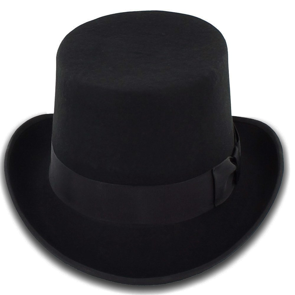 Belfry Topper 100% Wool Satin Lined Men's Top Hat in Black Available in 4 Sizes 2