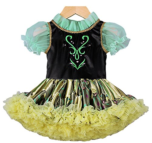 [MOONSTAR Princess Anna Coronation Short Dress for Babies Girls (2 Years (90 cm))] (Baby Anna Costumes Frozen)