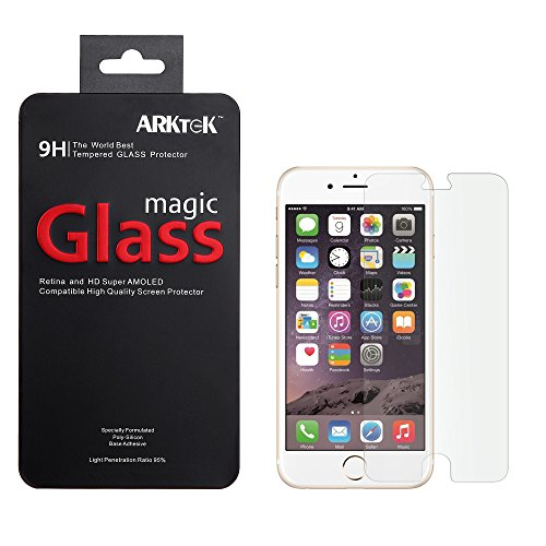 Iphone 6 Screen Protector, Arktek Ultra Thin 0.26Mm Premium Tempered Glass Screen Protector For 4.7Inch Iphone 6 With Lifetime Replacement Warranty - Tinplate Retail Packaging [1-Pack]