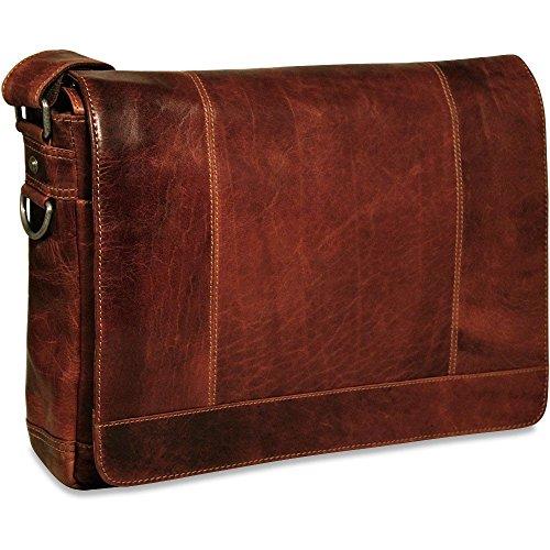 Voyager Full Size Messenger Bag Color: Brown Jack Georges Nylon Briefcase