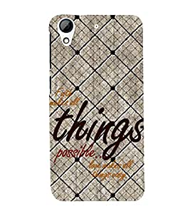 Fuson Premium Back Case Cover Faith make things possible With Multi Background Degined For HTC Desire 626::HTC Desire 626G Plus::HTC Desire 626G+