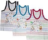 Bubbles Sleeveless Vests - Set Of 3 (3-6 Months) -M Size