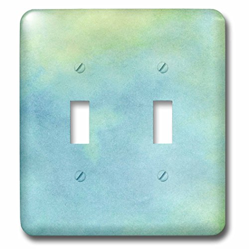 Janna Salak Designs Boho - Blue and Green Watercolor - Light Switch Covers - double toggle switch (lsp_212484_2) (Light Blue Wall Paint compare prices)