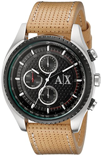 Armani-Exchange-Mens-AX1608-Analog-Display-Analog-Quartz-Beige-Watch