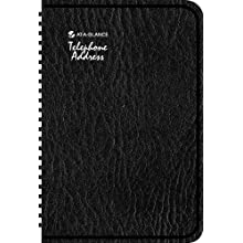 AT-A-GLANCE QuickNotes QuickNumbers Telephone/Address Book, 5 x 8 Inches, Black, Undated (86-715-05)