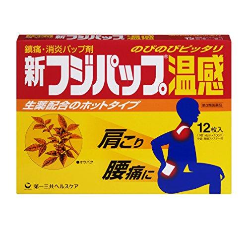 【第3類医薬品】新フジパップ温感 12枚
