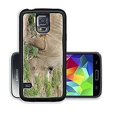 buy Liili Premium Samsung Galaxy S5 Aluminum Case Rhino Standing In Outdoor Zoo Habitat Image Id 21932072