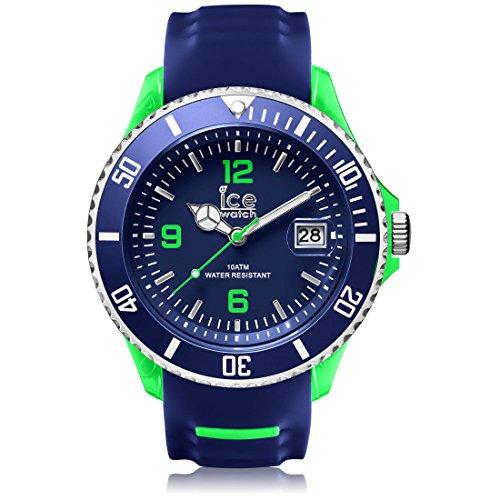 Ice Watch Ice sportivo blu e verde, Orologio da uomo al quarzo, con quadrante e SR.3H.BGN.BB.S.15 in Silicone, colore: blu