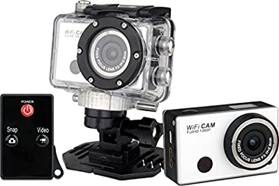 "Full 1080P HD action cam 8 MP, 2"" screen, Wifi Enabled, 1920x1080 at 30fps or 1280x720 at 60FPS, 120 degree fixed angle, Waterproof, 5 CMOS Sensor"