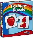 Noris Spiele 608985664 - Farben Puzzle, Reise- und Mitbringspiel